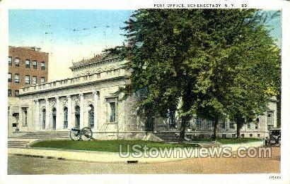 Post Office - Schenectady, New York NY Postcard