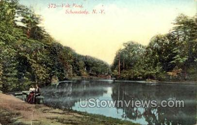 Vale Pond - Schenectady, New York NY Postcard