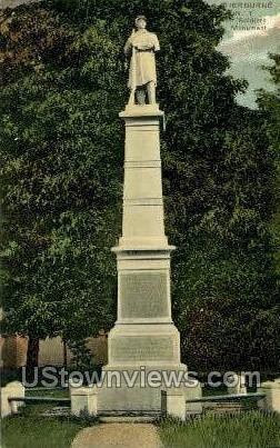 Soldiers' Monument - Sherburne, New York NY Postcard