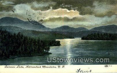 Adirondack Mountains - Saranac Lake, New York NY Postcard