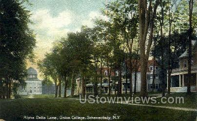 Alpha Delta Lane - Schenectady, New York NY Postcard