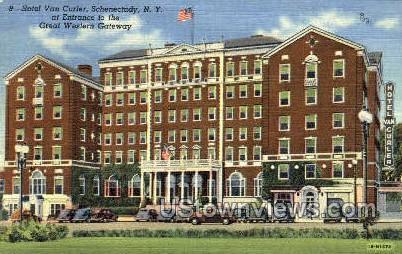 Hotel Van Curler - Schenectady, New York NY Postcard