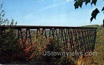 Kinzua Bridge - Salamanca, New York NY Postcard