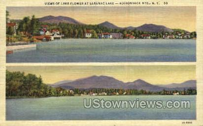 Lake Flower, Adirondack Mtns. - Saranac Lake, New York NY Postcard