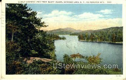 Bluff Island, Adirondack Mtns. - Saranac Lake, New York NY Postcard