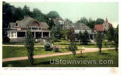 Chape & Cottages, Adirondack Mtns. - Saranac Lake, New York NY Postcard