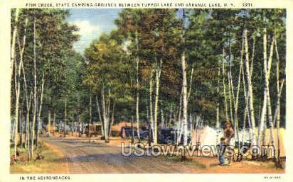 Fish Creek - Saranac Lake, New York NY Postcard