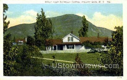 Robert Louis Stevenson Cottage - Saranac Lake, New York NY Postcard
