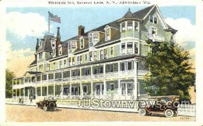 Riverside Inn - Saranac Lake, New York NY Postcard