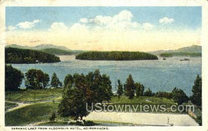 Algonquin Hotel - Saranac Lake, New York NY Postcard