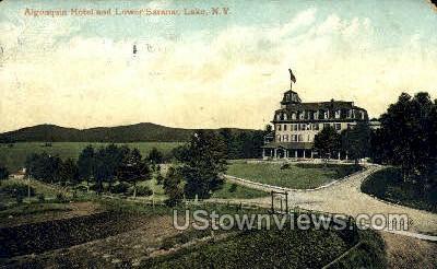 Algonquia Hotel - Saranac Lake, New York NY Postcard
