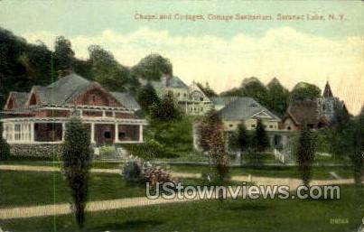 Cottage Sanitarium - Saranac Lake, New York NY Postcard