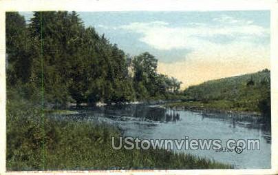 The Village, Adirondack Mtns. - Saranac Lake, New York NY Postcard