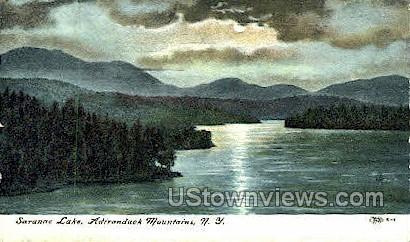 Adirondack Mtns. - Saranac Lake, New York NY Postcard