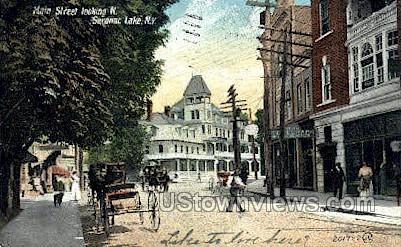 Main Street - Saranac Lake, New York NY Postcard