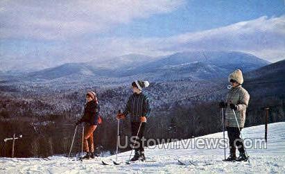Adirondack Mtns. & Lake Country - Saranac Lake, New York NY Postcard