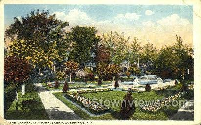 The Garden, City Park - Saratoga Springs, New York NY Postcard