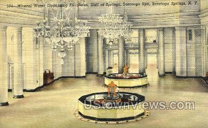 Hall of Springs, Saratoga Spa - Saratoga Springs, New York NY Postcard