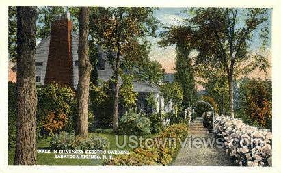 Chauncey Olcott's Gardens - Saratoga Springs, New York NY Postcard