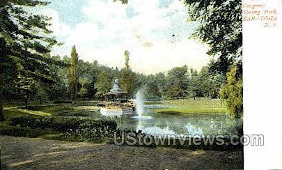 Congress Springs Park - Saratoga, New York NY Postcard