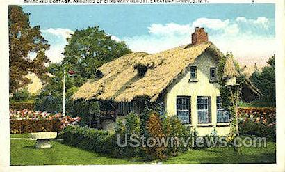 Thatched Cottage at Olcotts - Saratoga Springs, New York NY Postcard