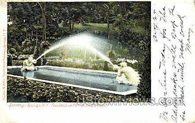Mr. Canfield's Park - Saratoga Springs, New York NY Postcard