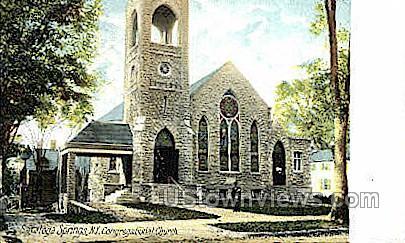 Congregational Church - Saratoga Springs, New York NY Postcard