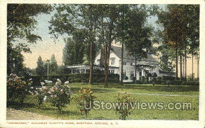Inniscarra Chauncey Olcott's Home - Saratoga Springs, New York NY Postcard