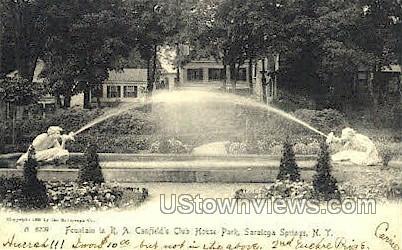 R.A. Canfield Park at Club House - Saratoga Springs, New York NY Postcard