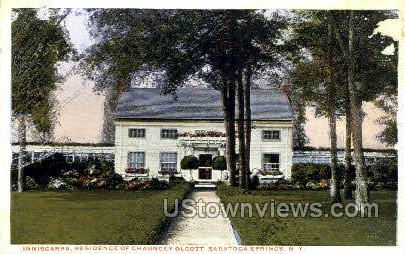 Chauncey Olcott - Saratoga Springs, New York NY Postcard
