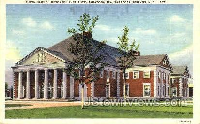 Simon Baruch Research Insitute - Saratoga Springs, New York NY Postcard