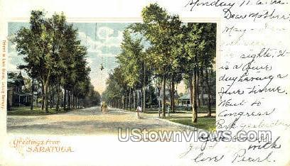 North Broadway - Saratoga Springs, New York NY Postcard