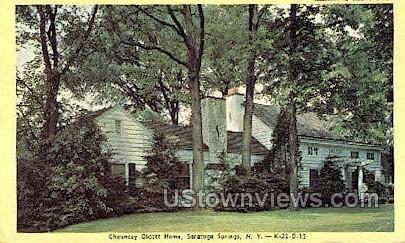 Chauncey Olcott Home - Saratoga Springs, New York NY Postcard