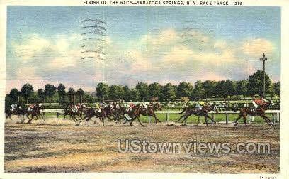 Race Track - Saratoga Springs, New York NY Postcard