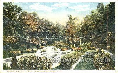 City Park - Saratoga Springs, New York NY Postcard