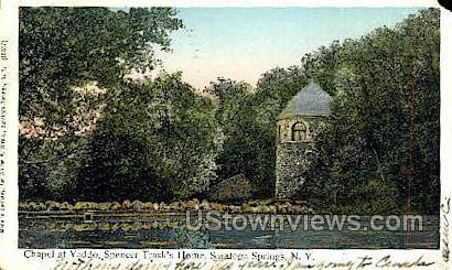 Spencer Trask's Home - Saratoga Springs, New York NY Postcard