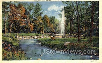 Hayes Well, Geyser Park - Saratoga Springs, New York NY Postcard