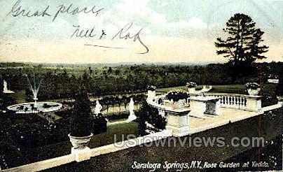 Rose Garden at Yaddo - Saratoga Springs, New York NY Postcard