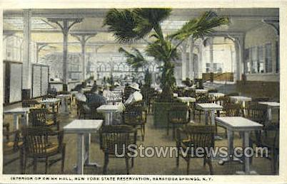 NY State Reservation - Saratoga Springs, New York NY Postcard