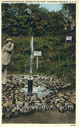 Gyantwaka Springs - Saratoga Springs, New York NY Postcard