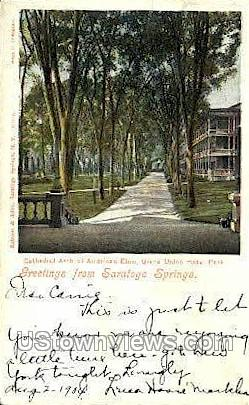 Cathedral Arch - Saratoga Springs, New York NY Postcard