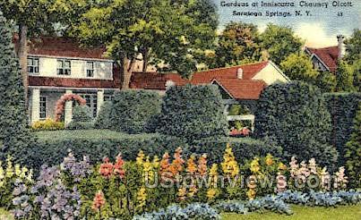 Garden at Inniscarra - Saratoga Springs, New York NY Postcard