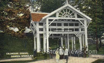Columbian Springs - Saratoga Springs, New York NY Postcard