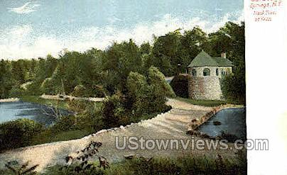Trask Tower - Saratoga Springs, New York NY Postcard