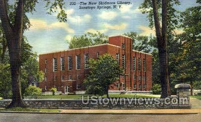 New Skidmore Library - Saratoga Springs, New York NY Postcard