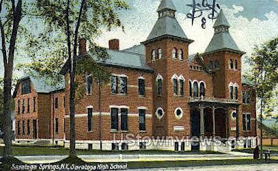 Saratoga High School - Saratoga Springs, New York NY Postcard
