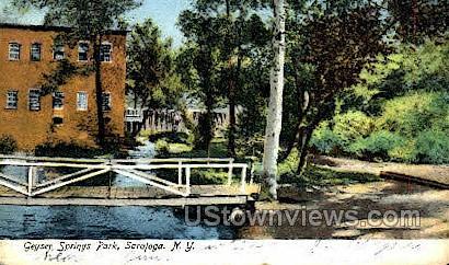 Geyser Springs Park - Saratoga Springs, New York NY Postcard