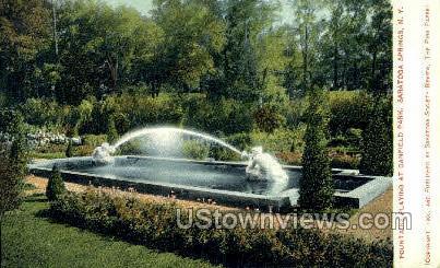 Canfield Park - Saratoga Springs, New York NY Postcard