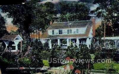 Chauncey Olcotts Home - Saratoga Springs, New York NY Postcard