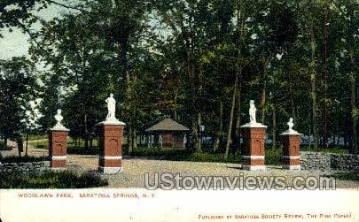Woodlawn Park - Saratoga Springs, New York NY Postcard